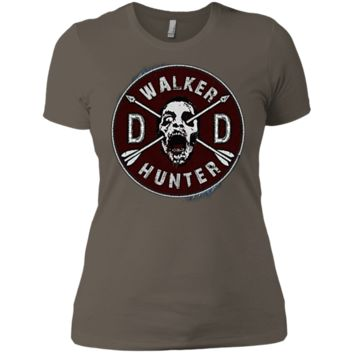 Walking Dead Daryl Dixon Wings and Walker Patch Two Sides NL3900 Next Level Ladies' Boyfriend T-Shirt
