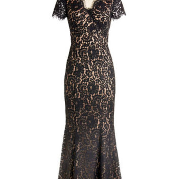 ModCloth Long Short Sleeves Maxi Descend to Your Darling Dress