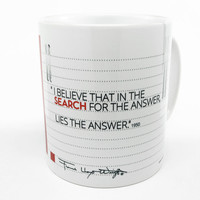 """Frank Lloyd Wright """"Search for the Answer"""" Quote Coffee Mug"""