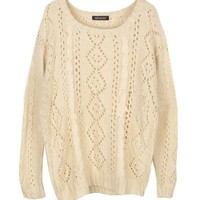 L 073008 Retro hollow loose knit sweater