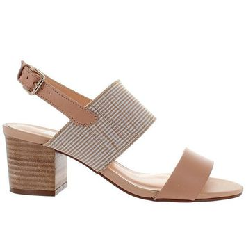 Chelsea Crew Elle - Nude Leather Sling-Back Sandal