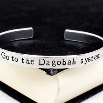 Go To The Dagobah System - Star Wars - Aluminum Bracelet