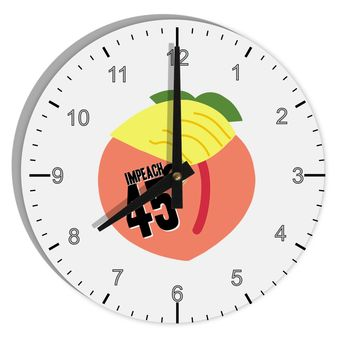 "Impeach Peach Trump 8"" Round Wall Clock with Numbers by TooLoud"