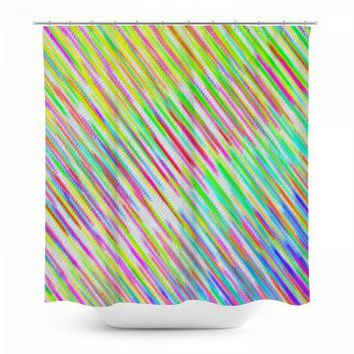 Rainbow Striped Shower Curtain