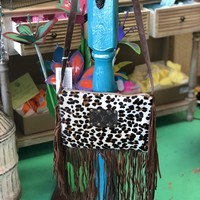 Cheetah fringe cross body