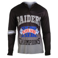Los Angeles Raiders Super Bowl XVIII  NFL Champions Poly Hoody Tee