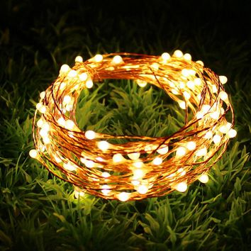 5M LED Copper Wire String Fairy Lights for Festival Wedding Party Home Decoration Lamp Holiday Lights