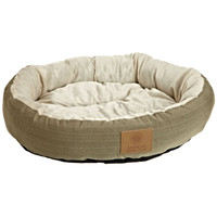 22-inch Round Pet Bed in Sage Green Small Dog or Cat - Machine Washable