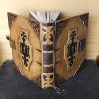"""Journal with Lock and Key, Natural Antiqued Leather - """"The Legend"""""""