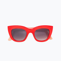 RED AND CORAL RESIN SUNGLASSES