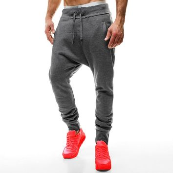 INCERUN 2017 New Men Plain Sweatpants Casual Joggers Sweats Pants Hip Hop Harem Trousers Loose Baggy Workout Pants  2XL