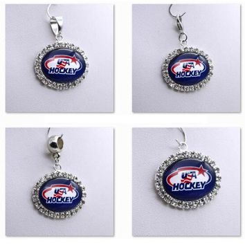 Pendant Charms Rhinestone NHL USA HOCKEY Charms for Bracelet Necklace for Women Men Ice Hockey Fans Paty Fashion 2017