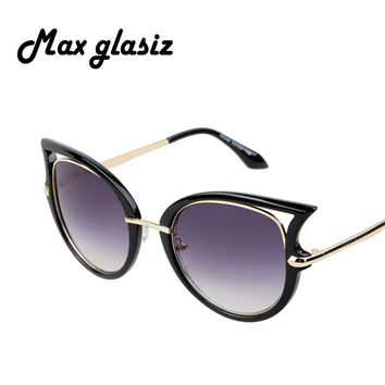 2015 Dita Cateye Women Brand Sunglasses Metal Frame High quality Glasses New Vintage Fashion Summer Cool eyewear Oculos del so