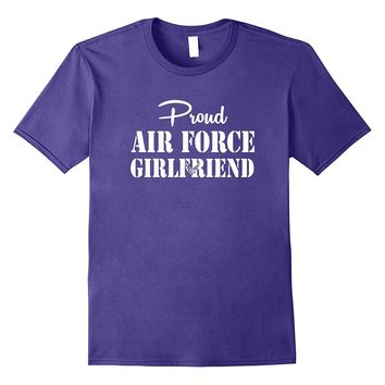 Military Proud US Air Force Girlfriend Simple White T-shirts