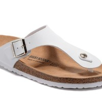 Birkenstock Gizeh Sandals Couples Slippers - Patent White