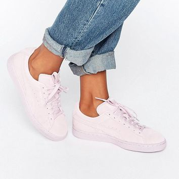 Puma Classic Suede Sneakers In All Pink at asos.com