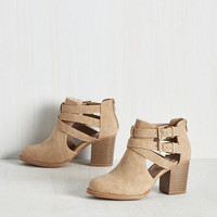 Adventure Essentials Bootie in Sand | Mod Retro Vintage Boots | ModCloth.com