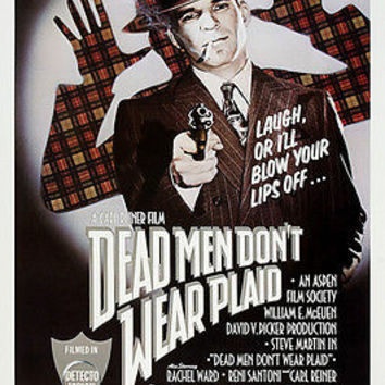steve MARTIN in DEAD MEN DON'T WEAR PLAID movie poster zany COMEDY 24X36