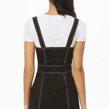 Contrast-Stitch Bodycon Dress