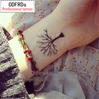 waterproof temporary tattoo tatoo henna fake flash tattoo stickers Taty tatto tatuagem tattoos tatuajes tree grows up