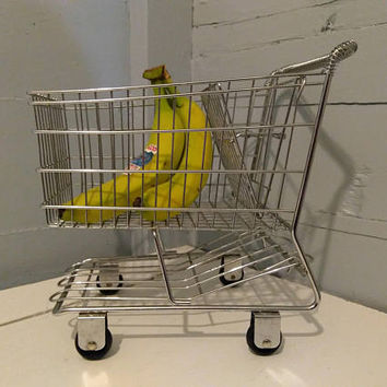 Vintage, 50's, Shopping Cart, Cart, Miniature, Metal, Kitchen Decor, Home Decor, Kids, Playroom, Toy, Photo Prop, RhymeswithDaughter