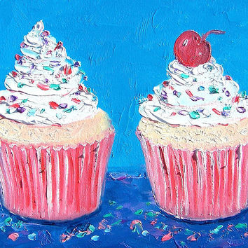 Two Frosted Cupcakes
