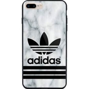Best Selling Adidas Marble White Logo iPhone 7 and 7+ Hard Plastic Case Cover