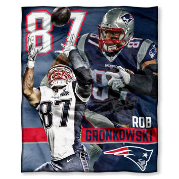 New England Patriots NFL Rob Gronowski Silk Touch Throw (50in x 60in)