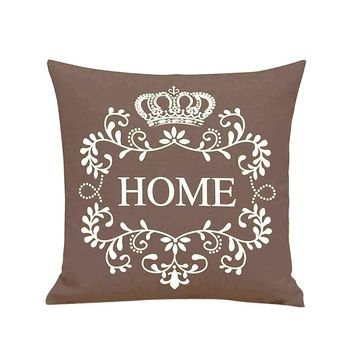 Pillow Case Sofa Waist Throw Cushion Cover Home Decor BW