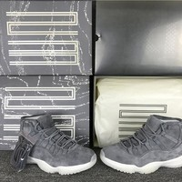 Whosale Online Air Jordan 11 PRM ¡°Grey Suede¡± Men Sneaker