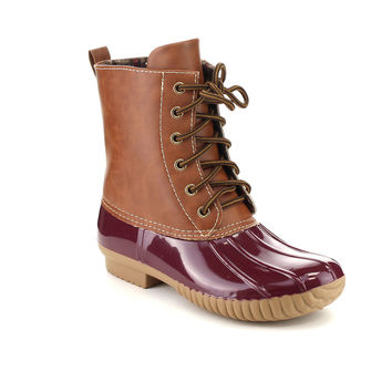Lace Up Two Tone Vintage Maine Hunting Boots