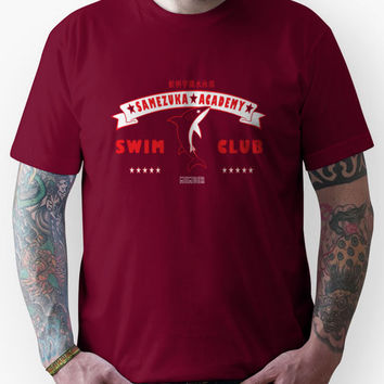 Free! Iwatobi Swim Club Shirt (Rin, Member) red Unisex T-Shirt