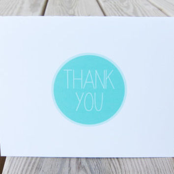 Thank You Card. Simple Thank You Card Set.