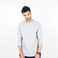 Summer Three-quarter Sleeve Boyfriend Round-neck T-shirts [10804119939]