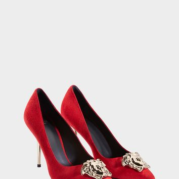 Versace Suede Palazzo Pump for Women | Official Website