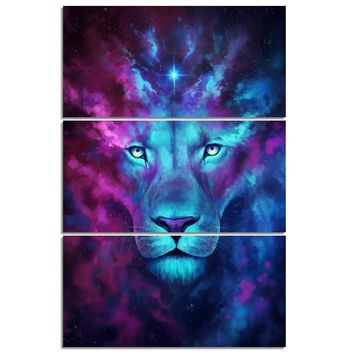 Firstborn by JoJoesArt 3 piece canvas art Psychedelic Lion Home Decor Wall Decor
