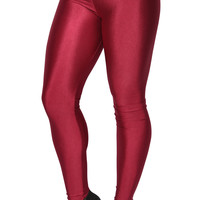 Shiny Red Candy Neon Leggings Design 238