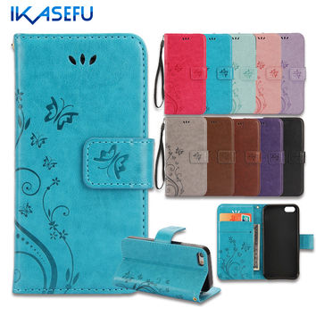 IKASEFU For iPhone 7 Case Stand Wallet Leather Case for iPhone 7 9237a983c9