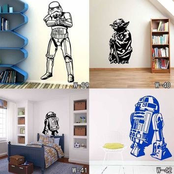 Star Wars Force Episode 1 2 3 4 5 Death  Poster Wall Stickers Wall Decals Art Stormtrooper For Kids Rooms Home Decoration WallPaper for Kids Room AT_72_6