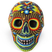 One Kings Lane - Destination: Mexico - Huichol Beaded Skull by F. L. Bautista
