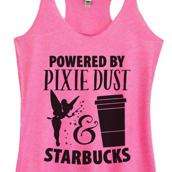 Womens Tri-Blend Tank Top - Powered by Pixie Dust & Starbucks
