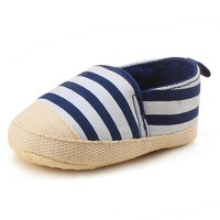 Striped Slip-on Soft Sole Shoes