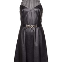 JASON WU leather belted dress