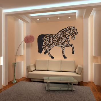 Vinyl Wall Decal Sticker Intricate Horse #OS_MB253