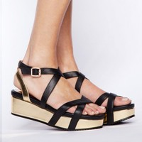 Gold-strappy-wedges -Fashion -Super-Market