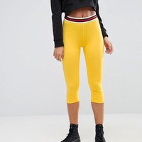 ASOS Over The Knee Leggings with Tipped Elastic Waistband at asos.com