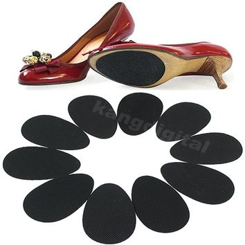 Hot Sale New Fashion 5 Pairs Women Rubber Anti-Slip Shoes Heel Sole Grip Protector Pads Non-Slip Cushion Accessories Black