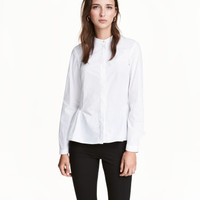 H&M Cotton Blouse with Flounce $34.99