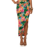 Sale-tropical Wrap Skirt