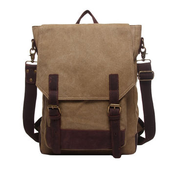 Vintage Waterproof Canvas Men Women Backpack Large Capacity Zipper Mochila Escolar Feminina Casual Laptop Travel School Bags SM6